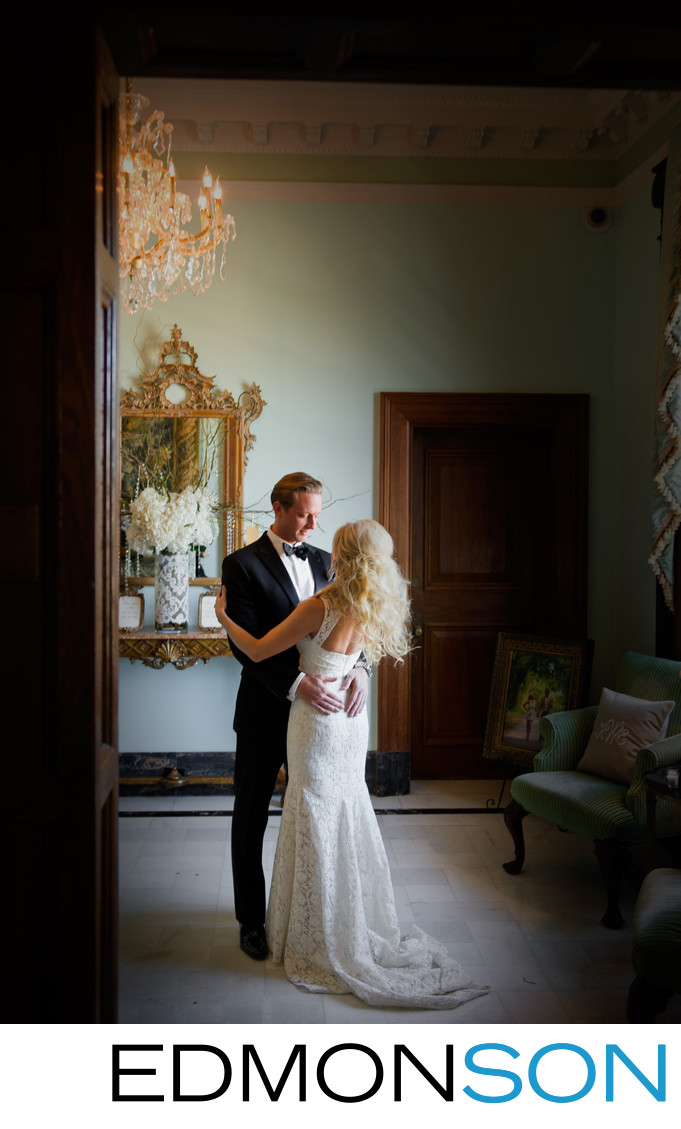 First Look By Wedding Couple At Stoneleigh Hotel
