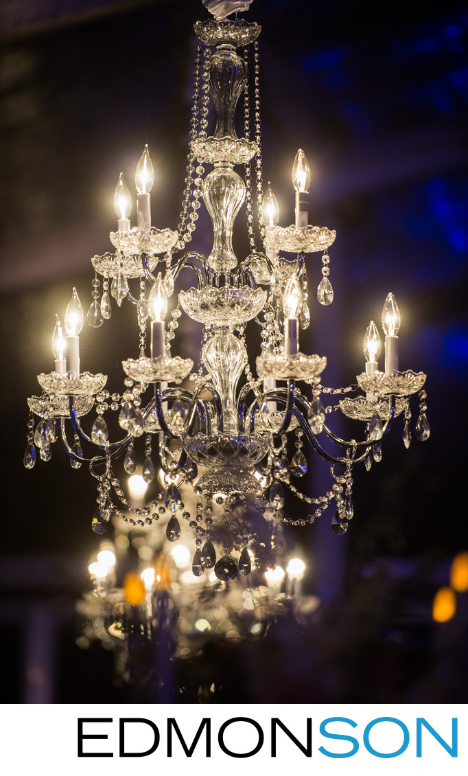 Wedding Chandelier Reception Detail
