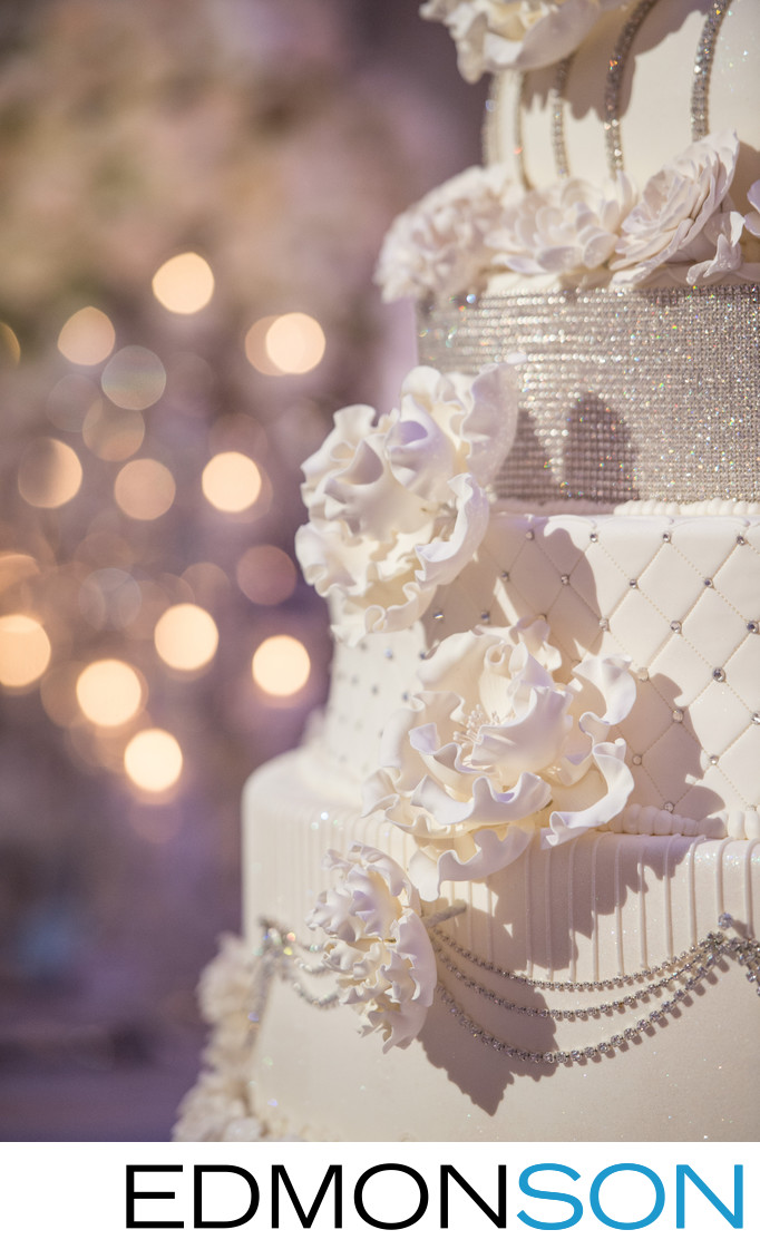 Gorgeous Floral Wedding Cake Detail