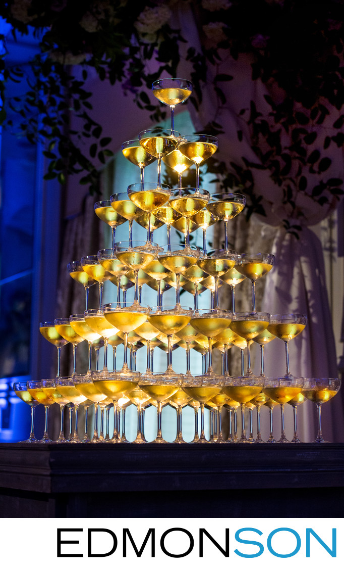 Spectacular Champagne Wedding Tower