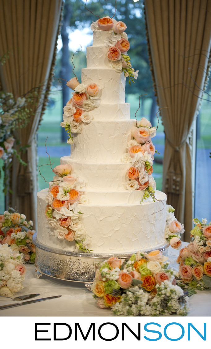 Wedding Cake At Brook Hollow Reception