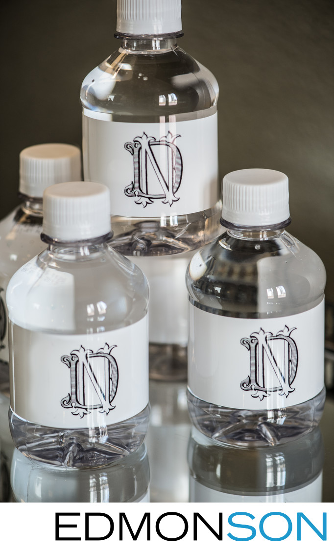 Monogrammed Wedding Water Bottles