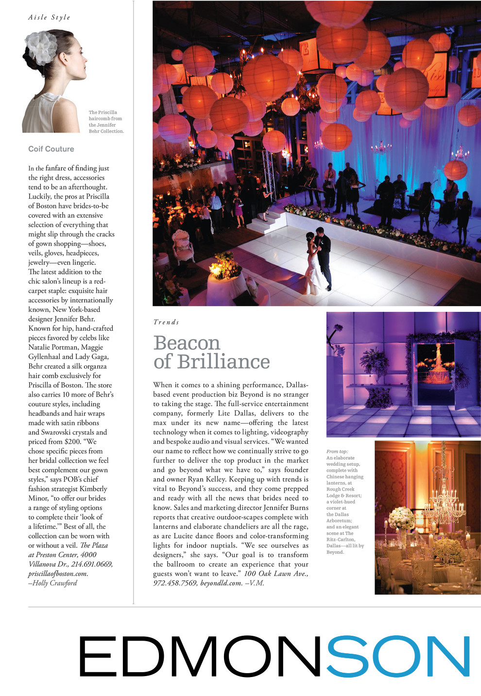 Beyond Lighting DWeddings Feature Beacon of Brilliance