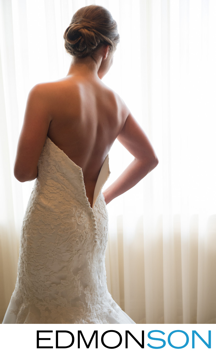 Amazing Wedding Detail As Bride Dresses