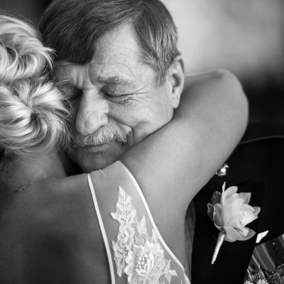 Emotional Bride Tells Father Goodbye