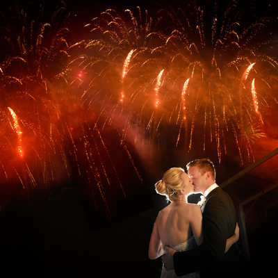 Fireworks Over Rough Creek Lodge Wedding