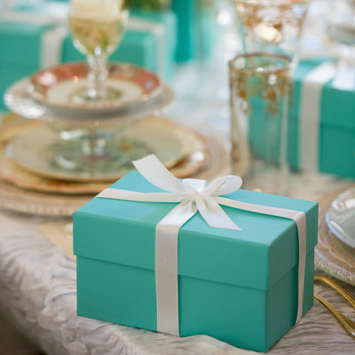 Tiffany's Box Awaits Bridesmaids Luncheon At Fearing's