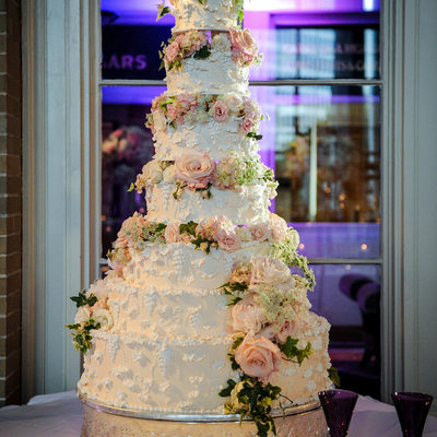 Union Station Reception Wedding Cake