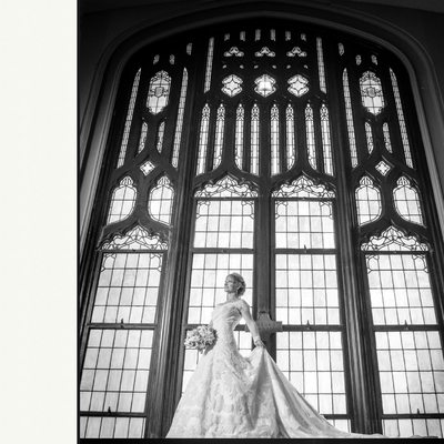 Bride & Groom First United Methodist Dallas Wedding