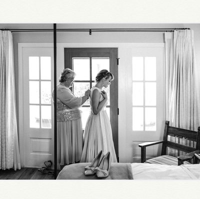 Bride Gets Ready At Los Poblanos Wedding