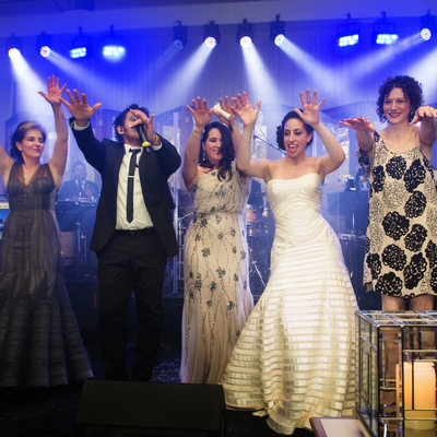 Party Begins At Jewish Wedding Reception At Ritz