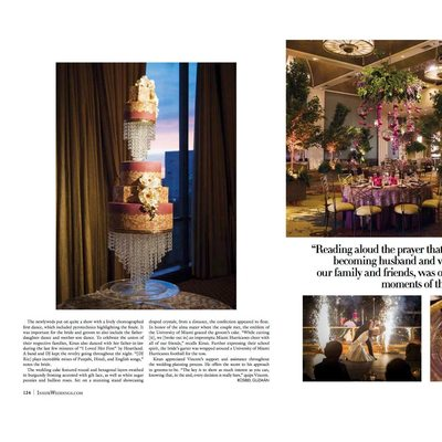Fusion Wedding Published In Inside Weddings Spring 206