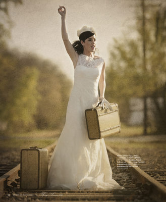 Vintage Luggage Wedding Prop Used In Magazine