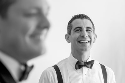 Groomsman Laughs At Crescent Wedding in Dallas, Texas