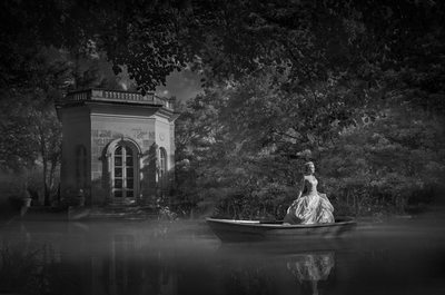 Epic Floating Bridal Portrait At Private Austin Estate