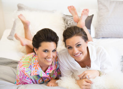 Loving Sisters Kick Back As Bride Greets Her Big Day