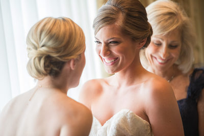 Tender Moment Between Bride & Sister On Wedding Day