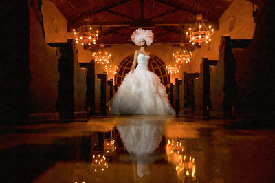 Dramatic Wedding Photo Of Miami Bride