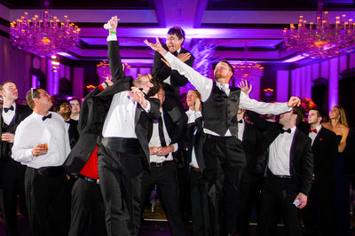Groomsmen Jostle For Garter At Dallas Country Club