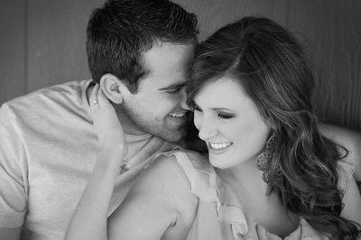 Playful Engagement Photo Of DFW Bride & Groom