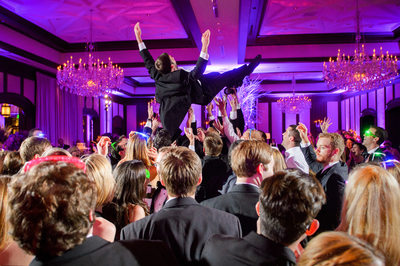 Groom Soars At Fun Dallas Country Club Reception