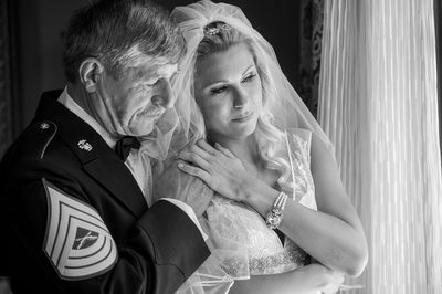 Military Father of Bride Tender Moment At Hotel Zaza