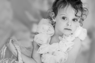 Tender Flower Girl Anticipates Walking Down The Aisle