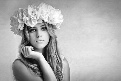 Perfect Floral Headpiece Suits Bohemian Bride In Miami