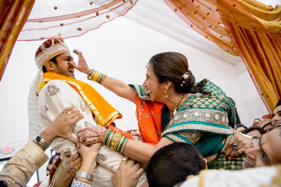 Gujarati Indian Wedding Mom Playfully Grabs Jaan's Nose