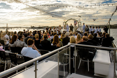 Sisters Double Destination Wedding On Hornblower Yacht