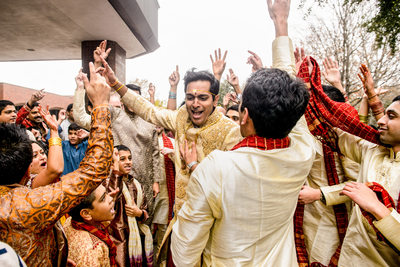 Anatole Indian Baraat Reaches Frenzy Outside Wedding