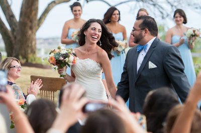 Wedding Ceremony Ends At Outdoor DFW Ranch Wedding