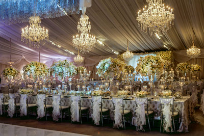 Jaw Dropping Texas Platinum Wedding Reception Tent