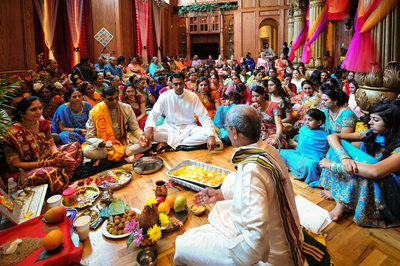 Dallas Gujarati Indian Wedding Puja Prepares Groom
