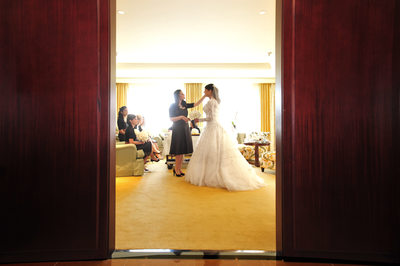 Indian Bride Gets Ready Before Wedding At Ritz Dallas