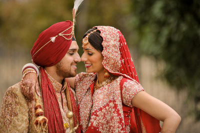 North Texas Sikh Temple Wedding Couple