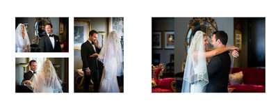 First Look For Bride & Groom At Hotel ZaZa Dallas