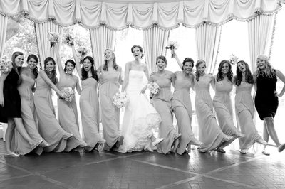 Bridesmaids Have Fun At Brook Hollow Wedding
