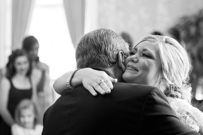 Houston Wedding Photography Bride Embraces Dad