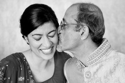 Gujarati Indian Father Kisses Bride's Cheek
