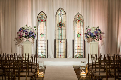 Wedding Stained Glass Decor From Old Church