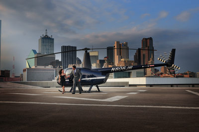 Dallas Indian Wedding Engagement Photo At Heliport