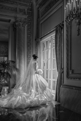 Gorgeous Dallas Bridal Portrait At Adolphus French Room