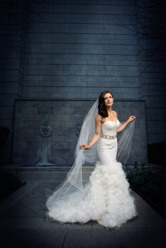 Dramatic Dallas Bridal Portrait Arlington Hall
