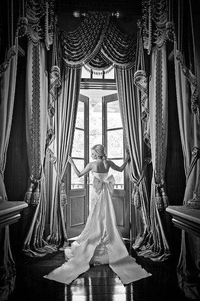 Lavish Louisiana Plantation Wedding Portrait