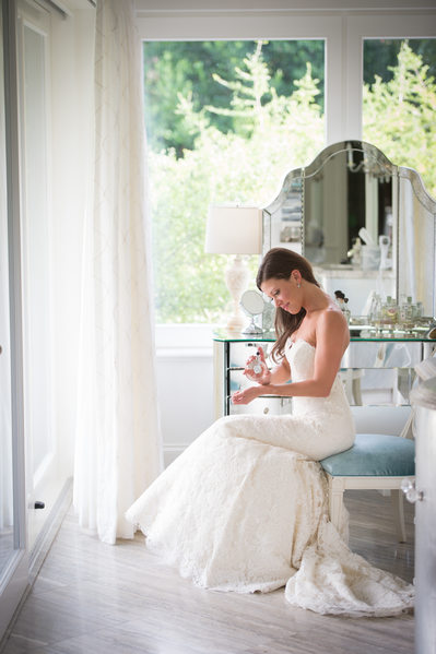 Park Cities Bride Applies Finishing Touches