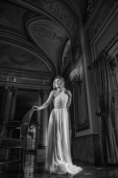 Persian Bride Engagement Portrait In French Room