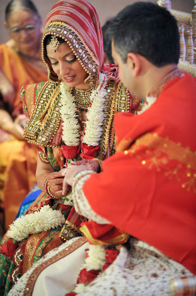 Indian Wedding In Houston Ceremony Ring Exchange