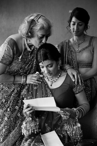 Bride Reads Letter Before Indian Wedding In Dallas