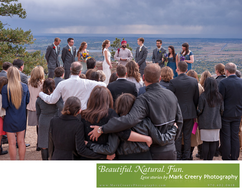 Sunrise Amphitheater wedding photography in Boulder